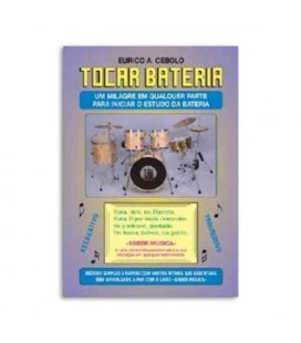 Livro Eurico Cebolo BAT Método Tocar Bateria com CD