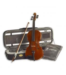 """Foto da viola Stentor Conservatoire 15"""" com o estojo"""