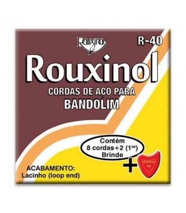 Jogo de Cordas Rouxinol R40 com Asa para Bandolim 8 Cordas