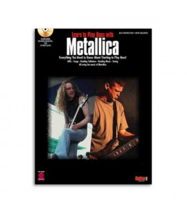 Livro Music Sales HL02500189 Metallica Learn To Play Bass