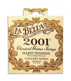 Jogo de Cordas LaBella 2001 para Guitarra Clássica Tensão Alta