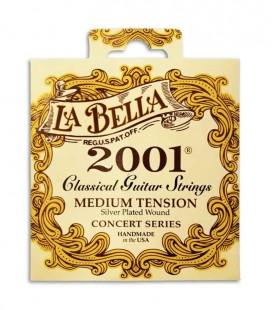 Jogo de Cordas LaBella 2001 para Guitarra Clássica Tensão Média
