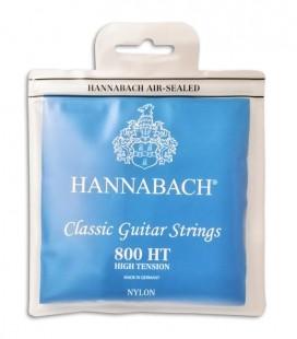 Jogo de Cordas Hannabach E800HT Guitarra Clásica Nylon Alta Tensão