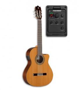 Foto da guitarra clássica Alhambra 3C CW E1 e pré-amplificador