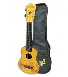 Ukulele Mahilele ML3 GDWD Soprano Yellow Autumn com Saco