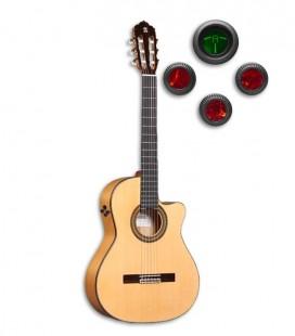 Guitarra Flamenca Alhambra 7FC CW E8 foto da guitarra e pré-amplificador