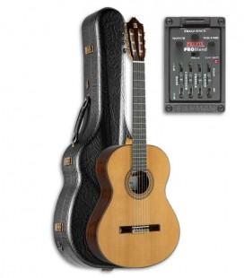 Guitarra Clássica Alhambra 9P E2 Equalizador Cedro Pau Santo com Estojo