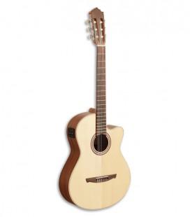 Paco Castillo 221 CCE Guitarra Cl叩ssica Abeto Sapelly Equalizador Cutaway