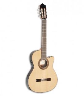 Paco Castillo 232 TE Guitarra Cl叩ssica Equalizador Estreita Cedro Sapelly