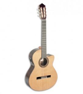 Foto guitarra clássica Paco Castillo 234 TE de frente e em três quartos