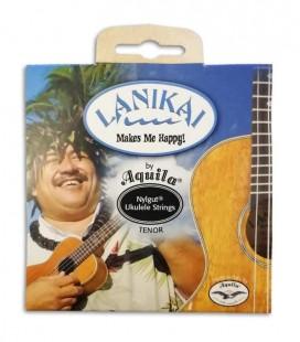 Foto da capa da embalagem do Jogo de Cordas Lanikai para Ukulele Tenor