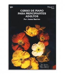 Foto da capa do livro Curso de Piano para Principiantes Adultos do Bastien em Espanhol Volume 1