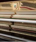 Foto da mecânica do Piano Vertical Petrof P122 N2