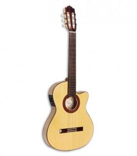 Foto de la guitarra clássica Paco Castillo modelo 233 FTE de frente y en três quartos