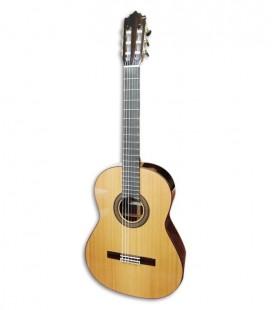 Foto da guitarra clássica Paco Castillo modelo 240 de frente e em três quartos
