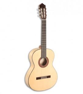 Foto da Guitarra Flamenca Paco Castillo modelo 213 F de frente e em três quartos