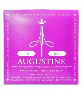Foto da capa da embalagem do Jogo de Cordas Augustine Regal Blue para Guitarra Clássica