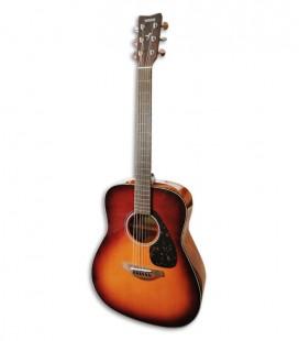 Foto da Guitarra Folk Yamaha modelo FG800 em cor brown sunburst de frente e em tr棚s quartos