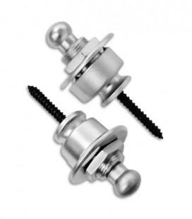 Foto dos dois pinos com o Straplock Schaller modelo 14010301 Sistema de Bloqueio para Correia