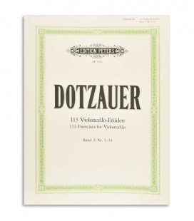 Foto da capa do Livro Dotzauer 113 Exercicios para Violoncelo Vol 1 Nº 1-34 EP5956