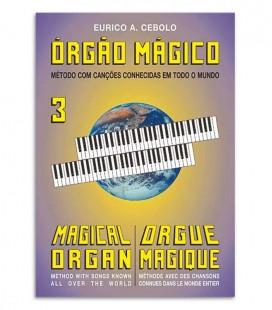 Foto da capa do livro Eurico Cebolo OM 3 Método Órgão Mágico 3
