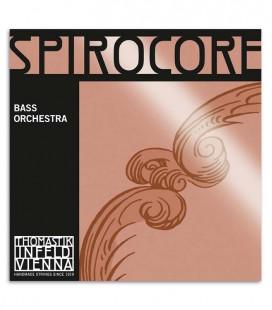 Foto da capa da embalagem do Jogo de Cordas Thomastik Spirocore Orchestra para Contrabaixo 4/4