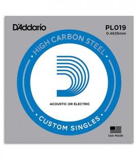 Foto da embalagem da Corda DAddario PL019 Guitarra Elétrica ou acústica