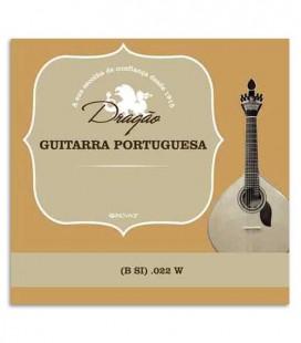 Corda Individual Drag達o 865 para Guitarra Portuguesa Coimbra .022 Si Bord達o