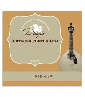 Corda Drag達o 876 para Guitarra Portuguesa 034 3 R辿 Bord達o