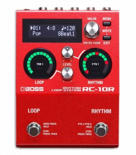 Pedal Boss RC-10R Loop Station e Caixa de Ritmos