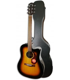 Guitarra Eletroac炭stica Fender Dreadnought CD 140SCE Sunburst com Estojo