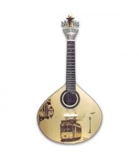 Guitarra Portuguesa GF PY LS APC Pirogravura Lisboa com Estojo