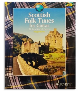 Foto de uma amostra do livro Scottish Folk Tunes for Guitar