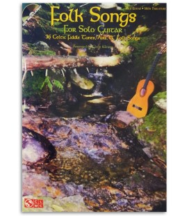 Foto de uma amostra do livro Folk Songs for Solo Guitar