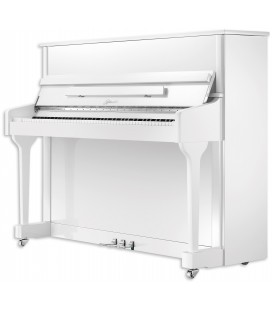 Piano Vertical Ritmuller AEU118S WH Classic 118cm Branco Polido 3 Pedais