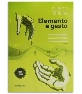 Foto da capa do Método de Guitarra Livro do Professor Elemento e Gesto Eurico Pereira