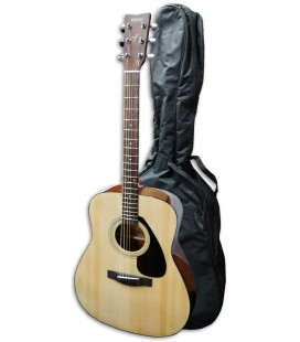 Foto da guitarra folk do Pack Yamaha F310 com o saco