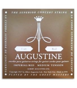 Foto da capa da embalagem do Jogo de Cordas Augustine Imperial Red Tensão Média Alta