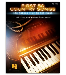 Foto da capa do livro First 50 Country Songs You Should Play On the Piano