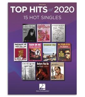 Foto de uma amostra do livro Top Hits 2020 Ukulele