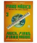 Foto da capa do livro Eurico Cebolo PM 3 M辿todo Piano M叩gico No 3 com CD