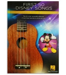 Foto de uma amostra do livro First 50 Disney Songs You Should Play on Ukulele