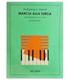 Foto da capa do livro Mozart Marcha Turca Sonata L叩 M KV331