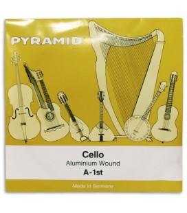 Foto da capa da embalagem da Corda Individual Pyramid modelo 170101 Lá para Violoncelo 4/4