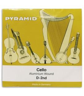 Foto da capa da embalagem da Corda Individual Pyramid modelo 170102 Ré para Violoncelo 4/4