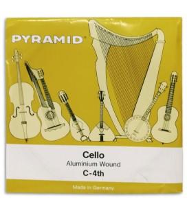 Foto da capa da embalagem da Corda Individual Pyramid modelo 170104 Dó para Violoncelo 4/4