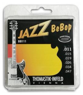 Jogo de Cordas Thomastik 011 BB-111 Bebop para Guitarra El辿trica Jazz