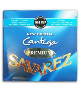 Foto da capa do Jogo de Cordas Savarez modelo 510-CJP New Crystal Cantiga Premium