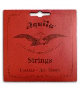 Foto da capa da embalagem da Corda Individual Aquila modelo 72-U Red Series Sol Grave para Ukulele Tenor
