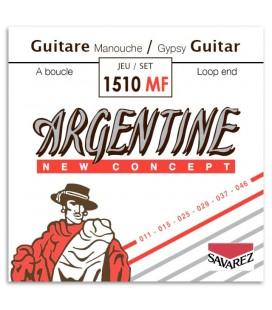 Foto da capa da embalagem do Jogo de Cordas Savarez modelo Argentine 1510MF